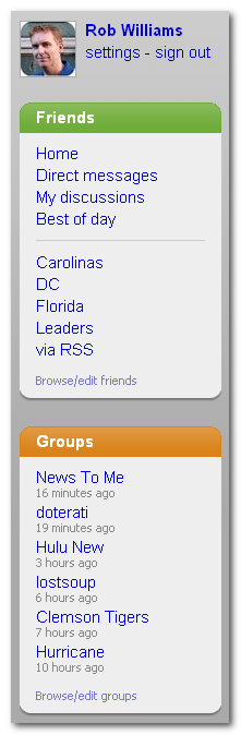 Organize FriendFeed with Lists and Groups