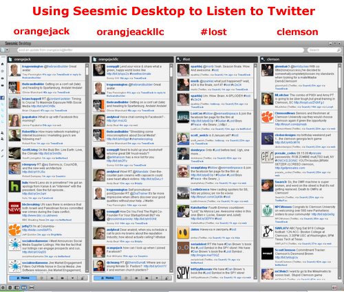 Using Seesmic Desktop to Listen to Twitter